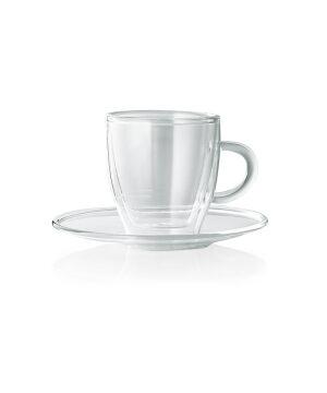 Enjoy borosilikatglas Espresso med underkop